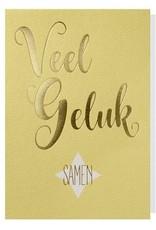 Papette Papette Gold greeting card with enveloppe 'Veel geluk samen'