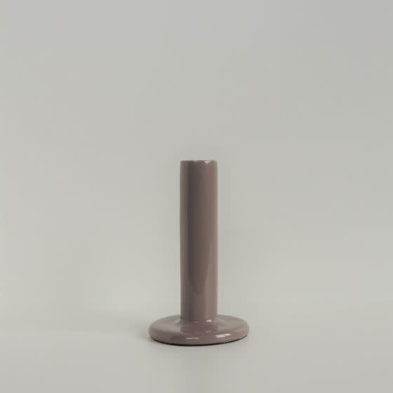 House Doctor Candle holder 12 cm taupe