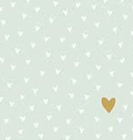 Paperproducts Design 20 napkins 'Little hearts mint green' 33x33 cm