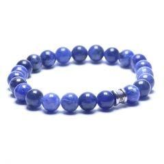 Steel & Barnett Stones bracelet basic - Navy - Size L