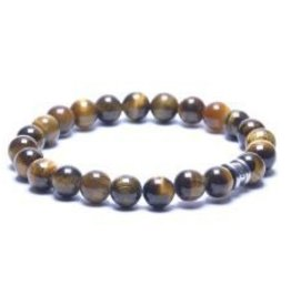 Steel & Barnett Stones bracelet basic - Tiger - Size L