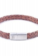Steel & Barnett Leather bracelet Riley - Caramel - Size L