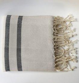 Bon Bini Bon Bini towel Belnem natural / black