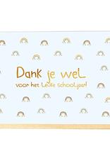 Enfant Terrible Enfant Terrible card  + enveloppe 'Dank je wel voor het leuke schooljaar'