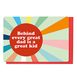 Enfant Terrible Enfant Terrible card  + enveloppe 'behind every great dad'