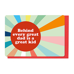 Enfant Terrible Enfant Terrible card  + enveloppe 'behind every great dad'