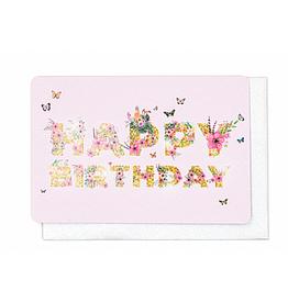 Enfant Terrible Enfant Terrible card + enveloppe 'happy birthday - butterflies'