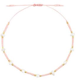 With love Bracelet pearl miyuki light peach