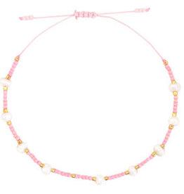 With love Bracelet pearl miyuki pink