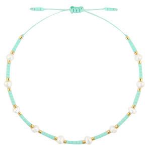 With love Bracelet pearl miyuki turquoise