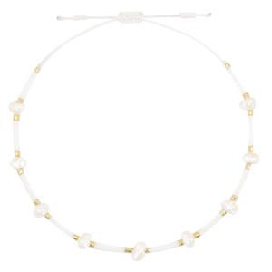 With love Bracelet pearl miyuki white