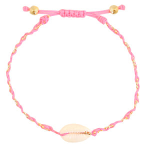 With love Anklet kauri braided neon pink
