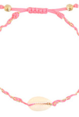 With love Anklet kauri braided pink