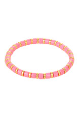 With love Bracelet sugar beads - pink