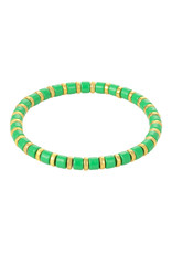 With love Bracelet sugar beads - green