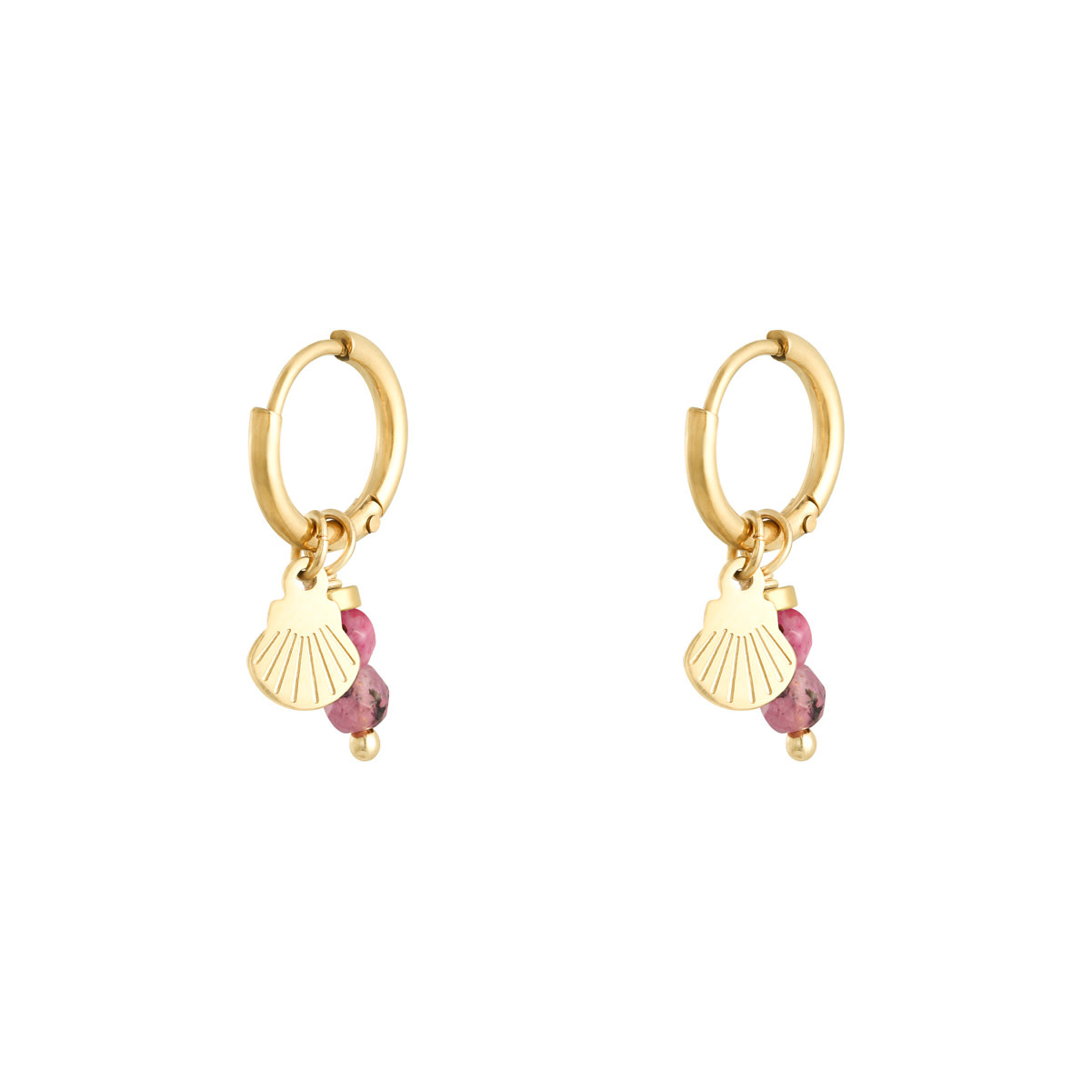 With love Earrings little shell pink