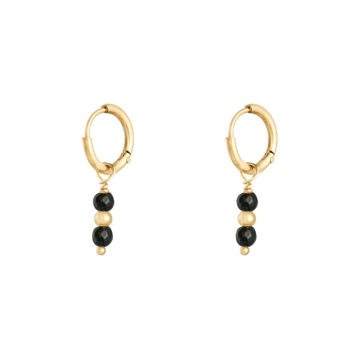 With love Earrings pineapple black