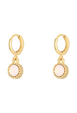 With love Earrings precious cut - light pink