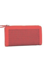 Détail Destiny wallet perforated pink clay