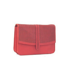 Détail Hope handbag perforated pink clay