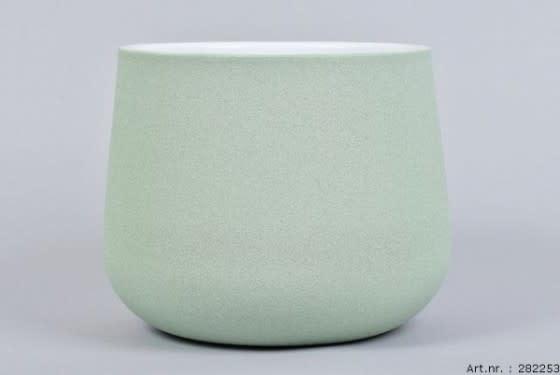 Flower pot Berlin green 19 x 15 cm