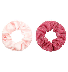 With love Set of 2 scrunchies pink
