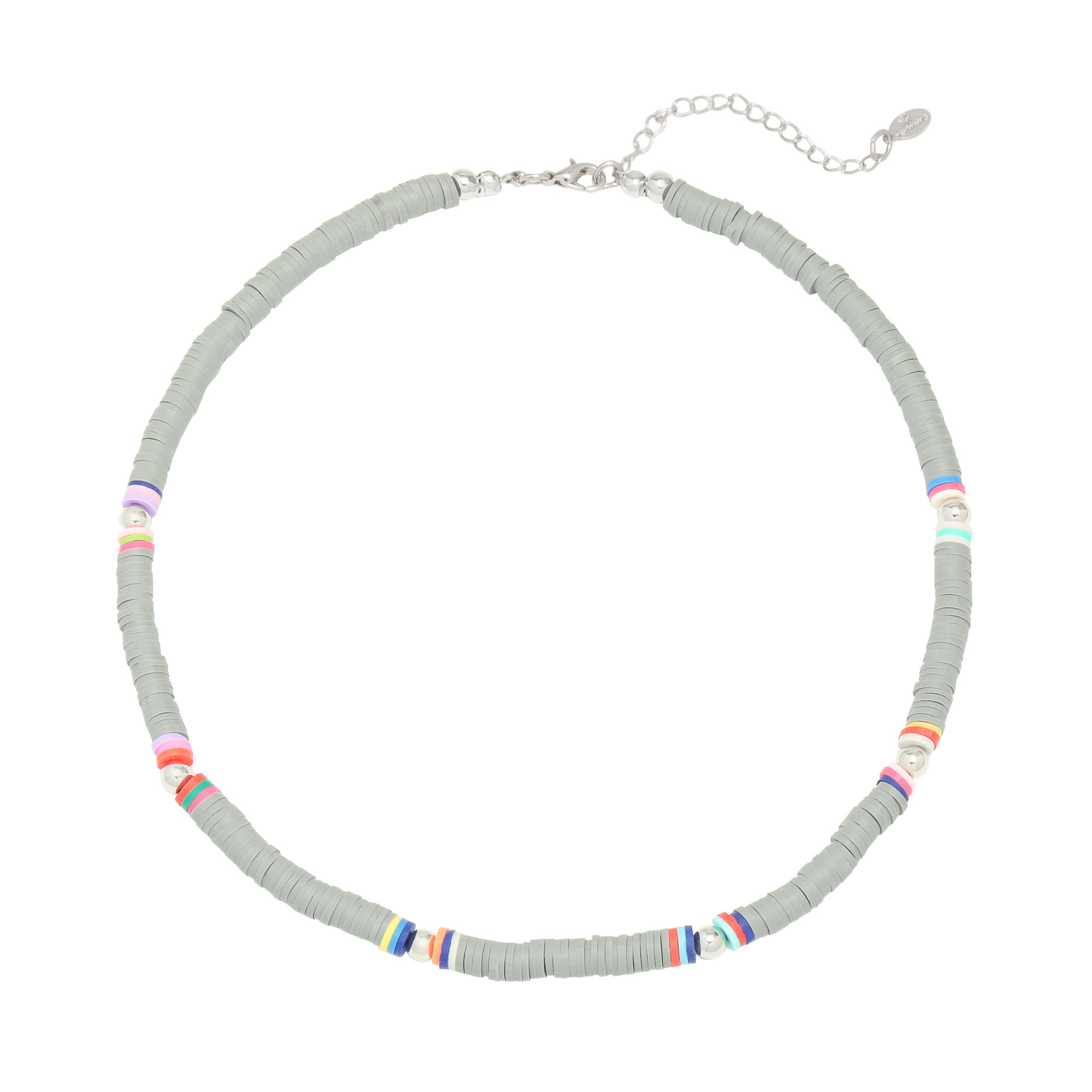 With love Surf necklace grey