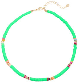 With love Surf necklace green