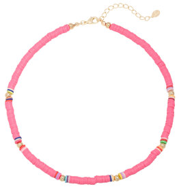 With love Surf necklace pink