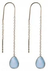 Treasure Earrings GP aqua