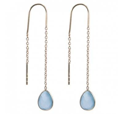 Treasure Silver earrings GP aqua