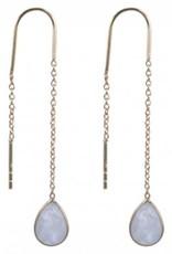 Treasure Earrings GP moon stone
