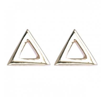 Treasure Silver stud GP earrings open triangle 5 mm