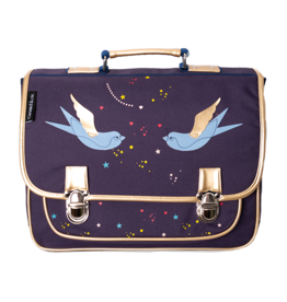 Caramel & cie Medium schoolbag swallows 38 x 31 x 12 cm