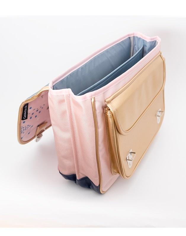 Caramel & cie Large schoolbag unicorns 41 x 32 x 16 cm