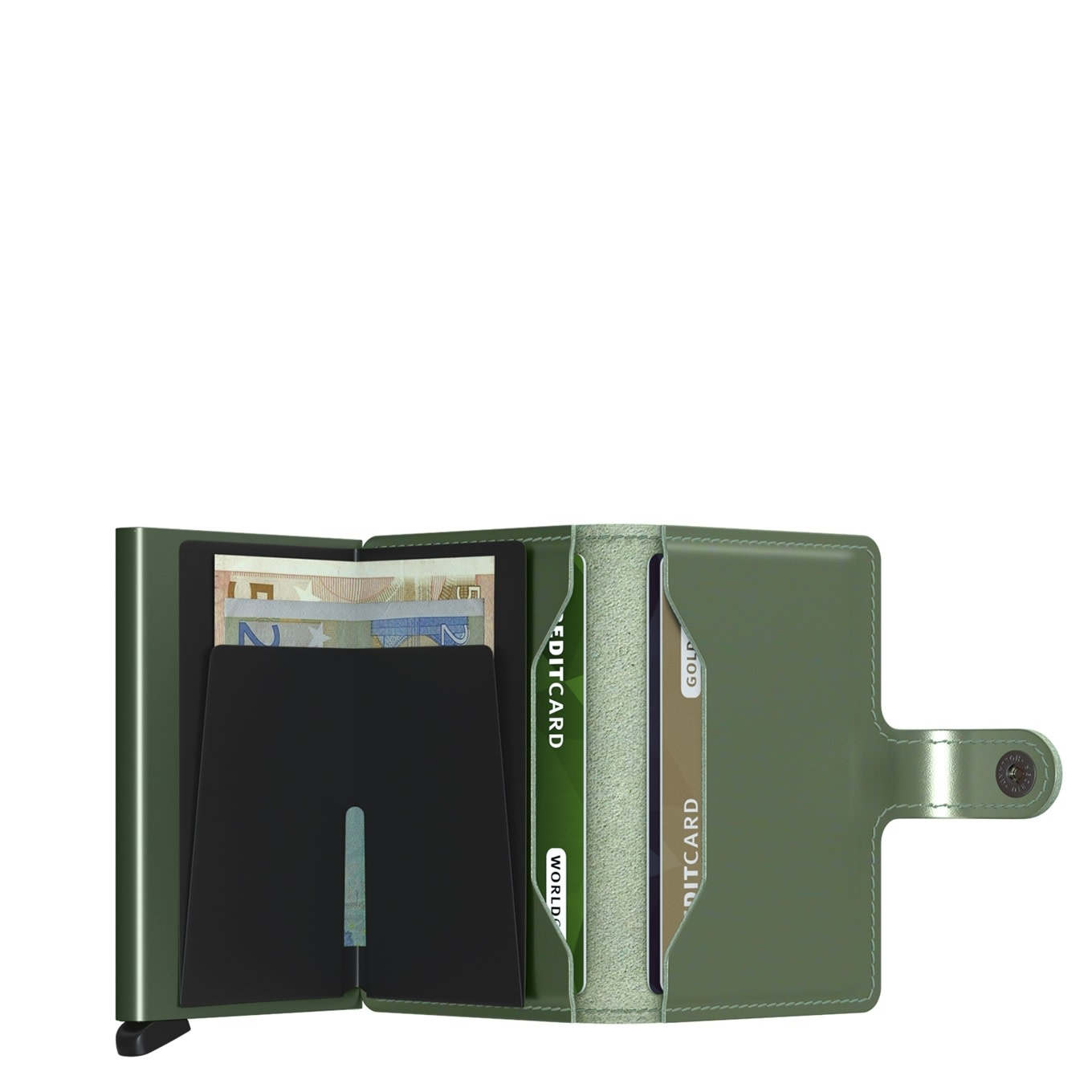 Secrid Secrid  miniwallet metallic - green