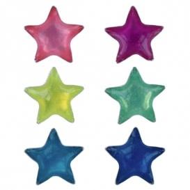 Treasure Silver earrings colored star 2 pairs - pink