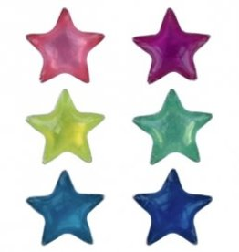 Treasure Silver earrings colored star 2 pairs - green