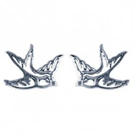 Treasure Silver stud earrings swallow