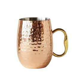 Bloomingville Cedar mug copper 7.5 x 10 cm