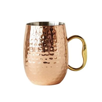 Bloomingville Cedar mug copper 7.5 x 10 cm