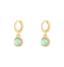 With love Earrings precious cut - aqua