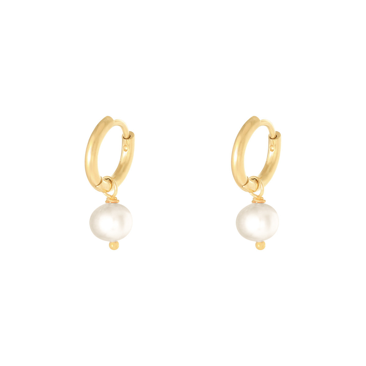 With love Earrings pearl of the sea - white