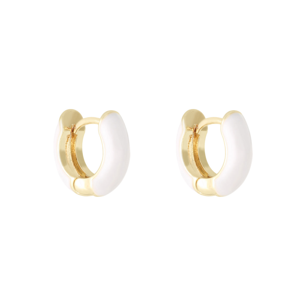 With love Earrings happy color - white