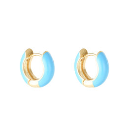 With love Earrings happy color - aqua
