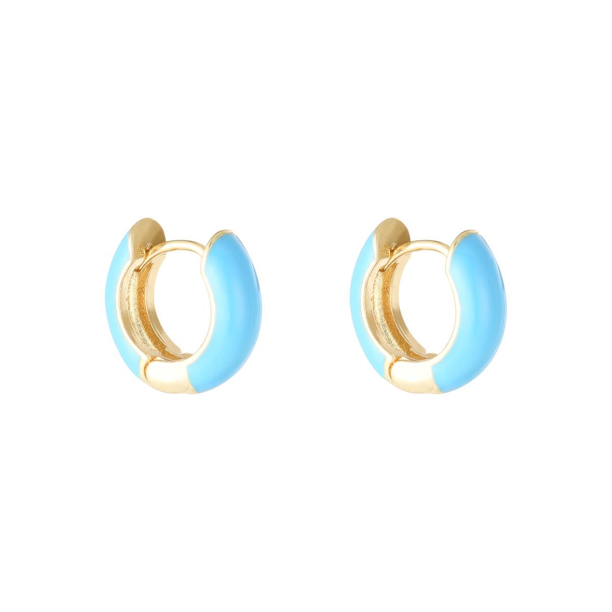 With love Earrings happy color - aqua