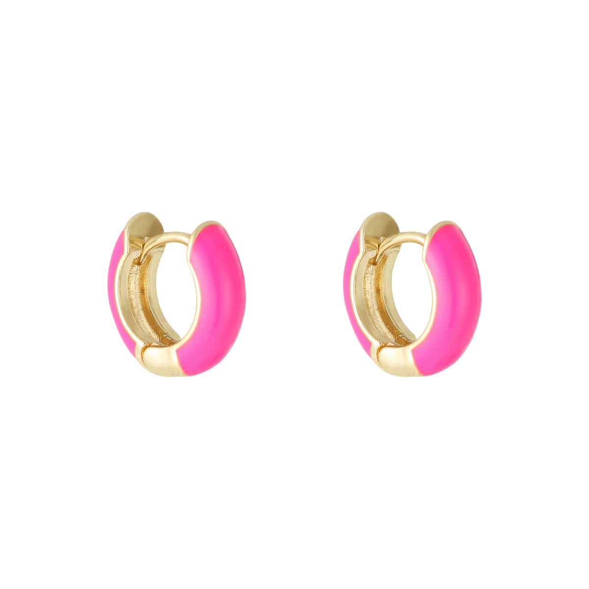 With love Earrings happy color - fushia