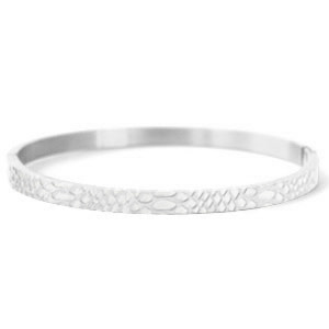 With love With love bangle silver 'snake'