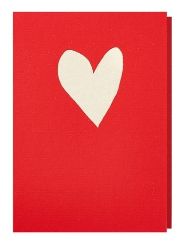Papette Papette greeting card love 'neon red - gold'