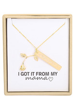 With love Necklace 'I got it from my mama'